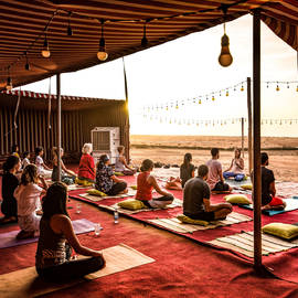 Sunset yoga at the farm- Dec 7th