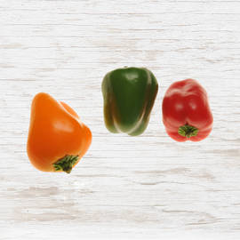 Organic Mini Capsicum, Mixed Colours
