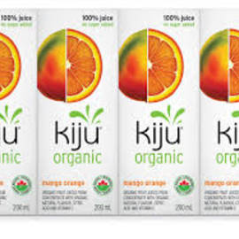 Pack of 4 Organic Mango and Orange Juice Kiju 200ML